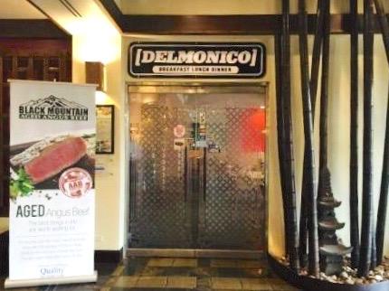 デルモニコのお店、看板