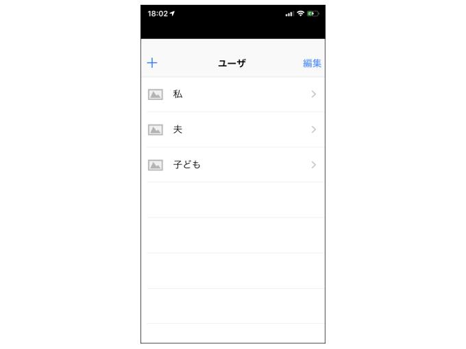 ユーザーを追加した画面を表示した画像