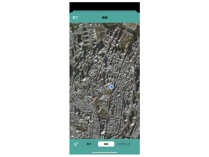 マップを表示している画像