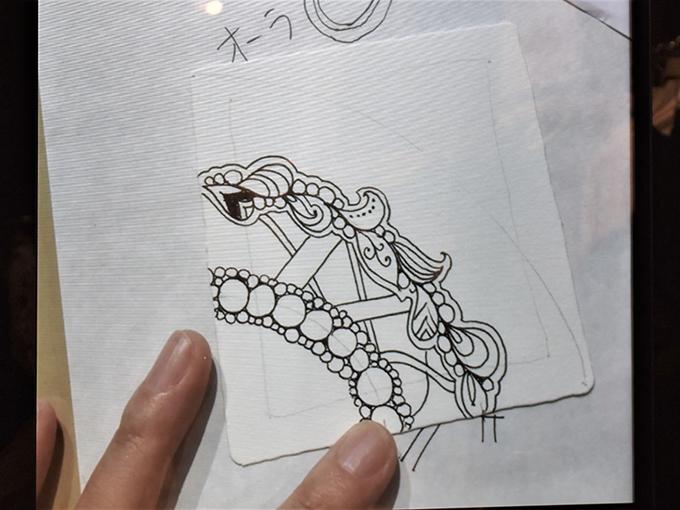 ひもで結んでいる絵の画像