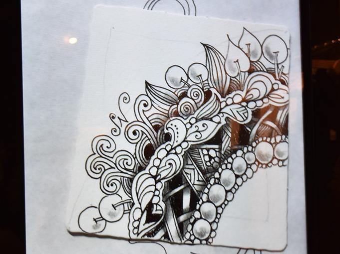 シャドウをつけた成冨さんの絵