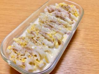 レンジで簡単!Wたんぱく質レシピ「豚肉と白菜の豆乳ミルフィーユ」 #今日の作り置き