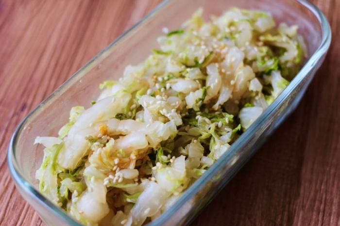 白菜のラー油和え
