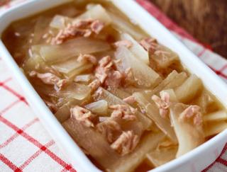 食材はこれ2つ! 煮るだけでサクッとできちゃう缶詰レシピ「大根とツナの煮物」 #今日の作り置き