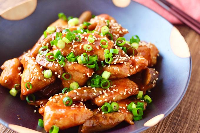 鶏とごぼうのコチジャン煮