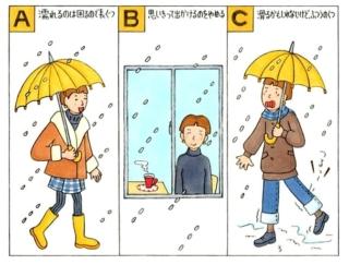 【心理テスト】外は雪が降っています。あなたはどんな靴を履いていく?