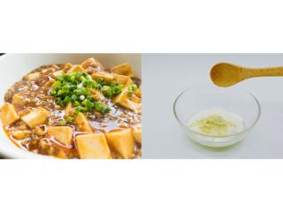 麻婆豆腐とおからパウダーヨーグルトの画像