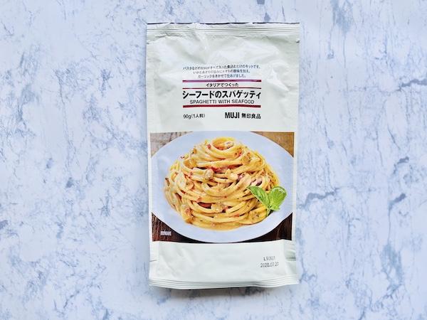 無印の「イタリアでつくった シーフードのスパゲッティ」
