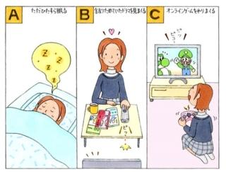 【心理テスト】インフルエンザの熱が下がったあなた。家でやりたいことは?