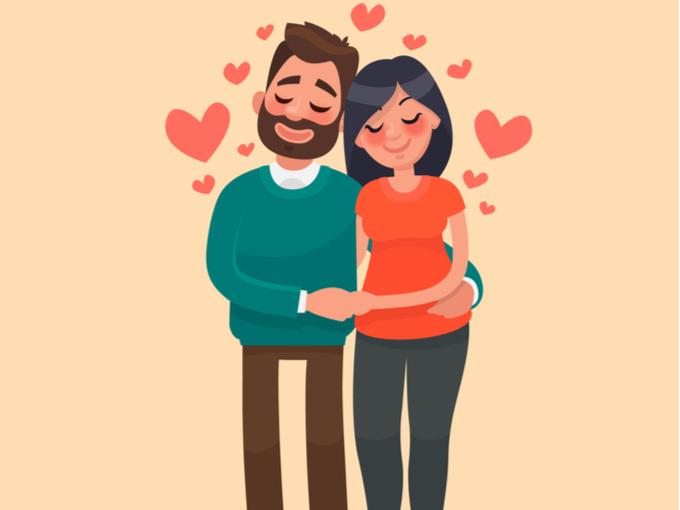 手をつなぐカップルのイラスト