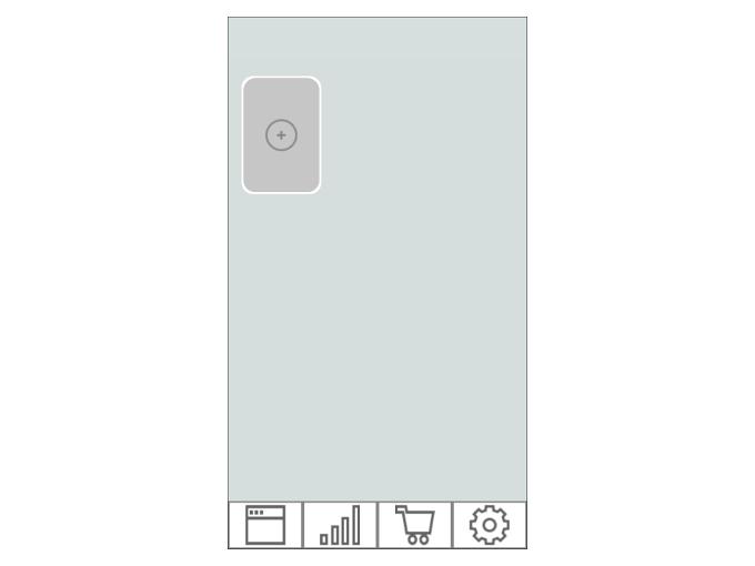 アプリ起動直後のHOME画面の画像