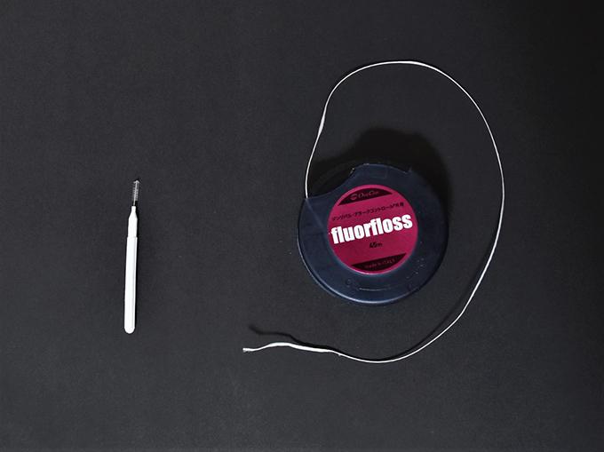 歯間ブラシ、デンタルフロスの画像