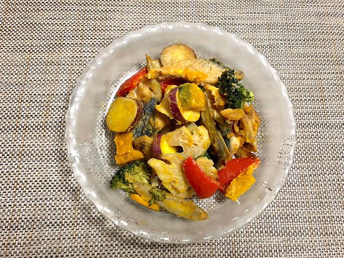 サバと野菜たっぷりみそ炒め