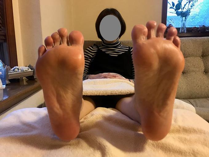 施術後の足裏