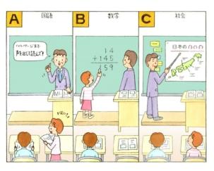 学校の授業のイラスト