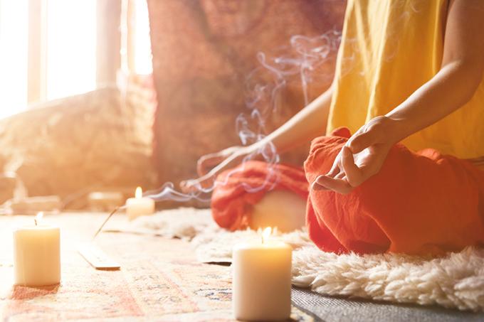 瞑想している写真