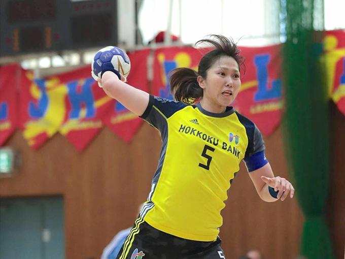 試合中の塩田沙代選手