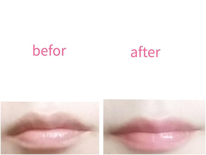 リップを唇につけてみたイメージ