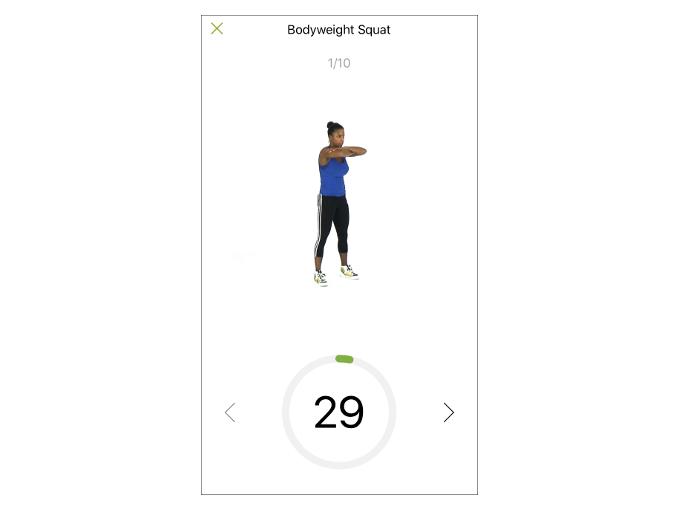 「Bodyweight Squat」をおこなっている時の画像