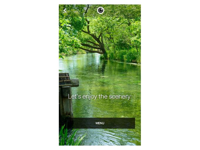 風景の写真が表示された時の画像