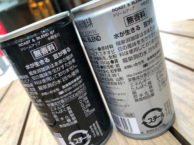 コーヒー缶に記載された栄養成分表示とコーヒーの特徴