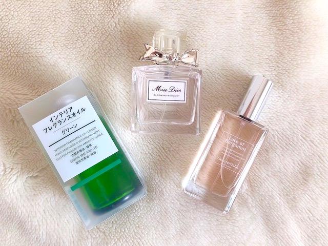香りアイテム3つ
