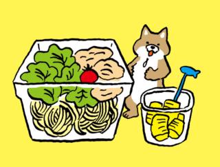 「パスタサラダ+パイナップル」で前日の食べ過ぎをリセット! #コンビニちょい足し薬膳