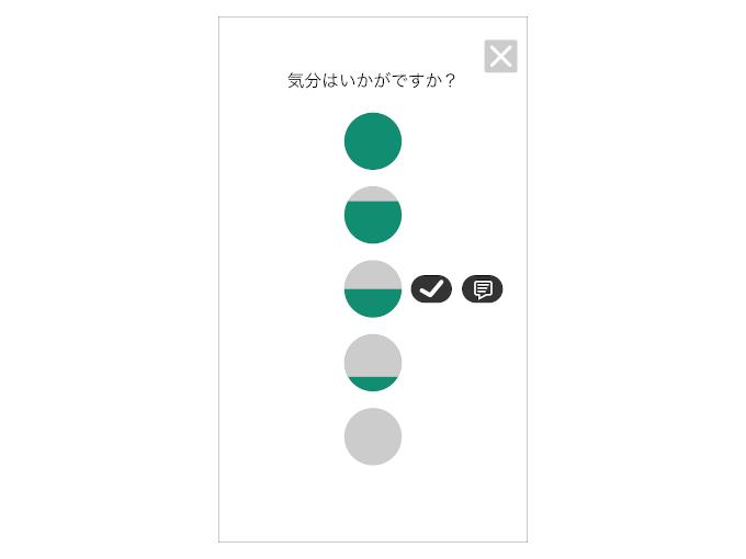 「+」ボタンを押した後に表示されるアイコンの画像