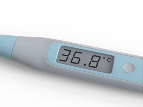 36.8 ℃を示した体温計