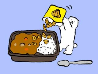 「カレー+フライドオニオン」で冷え解消! #コンビニちょい足し薬膳
