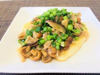 食べ過ぎた日の翌日に!「豚肉と3種きのこのねぎだくあん豆腐」 #今日の作り置き