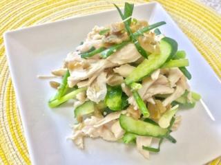 しっとりジューシーでやみつき!「蒸し鶏とザーサイの中華サラダ」 #今日の作り置き