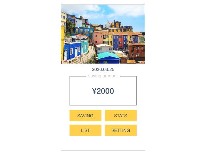 貯金額に「1500円」を加えた時の画像