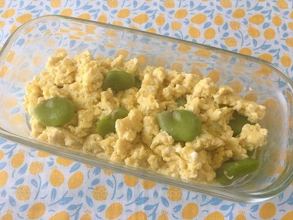 植物性たんぱく質&ビタミンB群が豊富!「そら豆の豆腐卵炒め」 #今日の作り置き