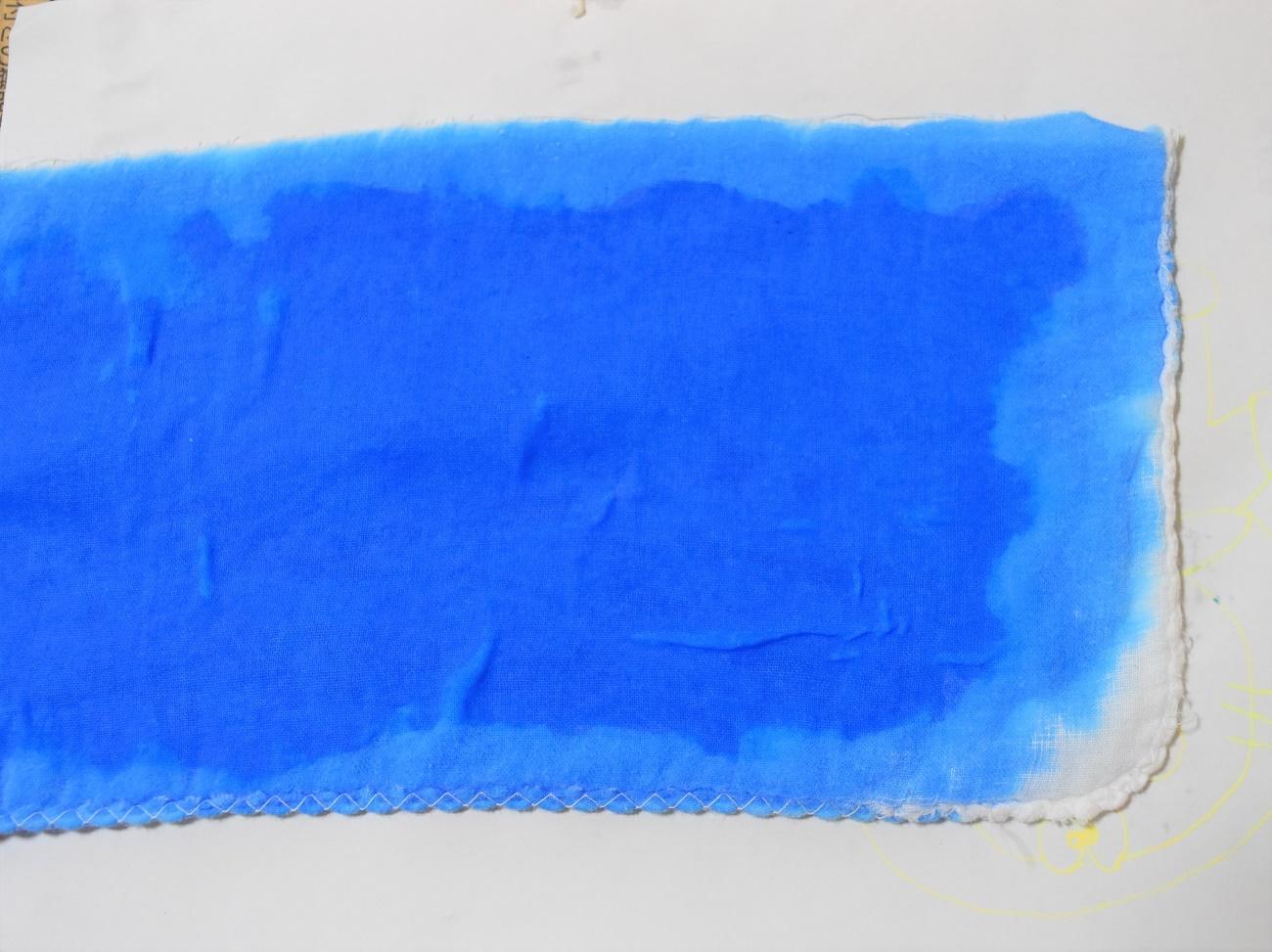 染めたガーゼの画像