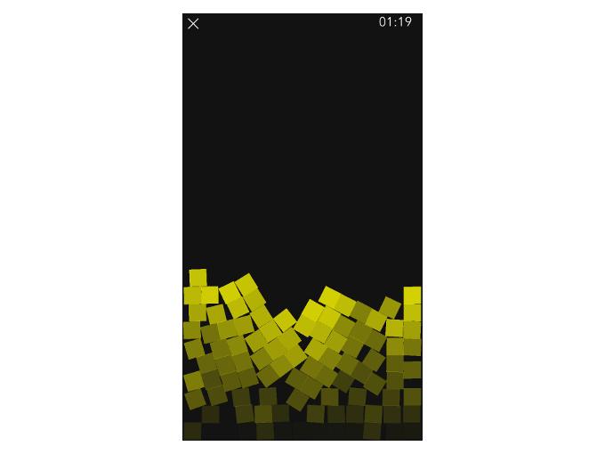 黄色いブロックが出現した時の画像