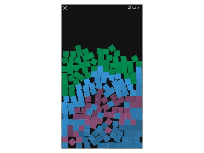 様々な色のブロックが出現した時の画像