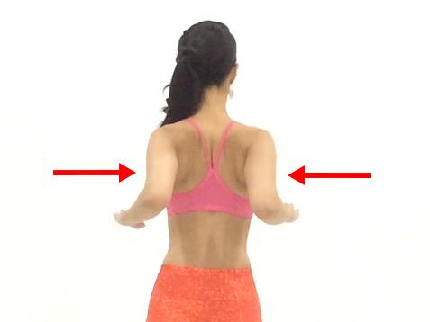 肩甲骨開閉トレーニング3