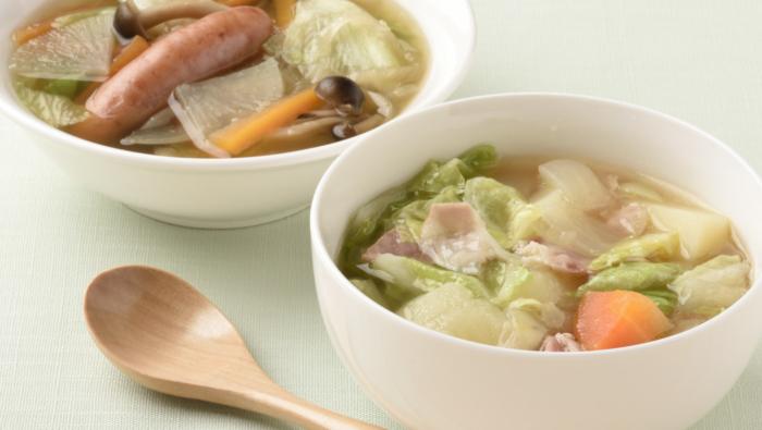 朝食に最適!キャベツや新タマなど春野菜の簡単スープレシピ2選