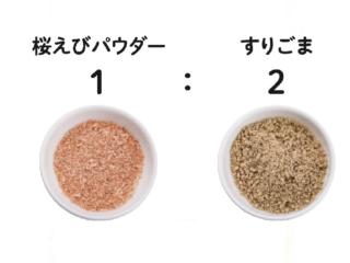 抗酸化ごまと桜えびパウダー