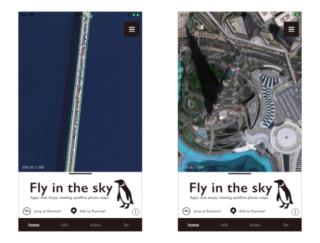 空を飛んでいるような気分♡ アプリ「fly in the sky」で世界中を旅しよう♪