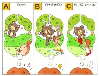 【心理テスト】森の中でクマと遭遇! あなたが思ったことは?