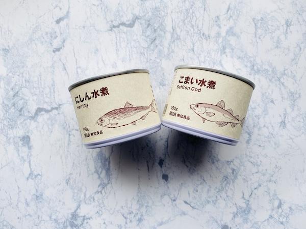 にしん水煮(左)とこまい水煮(右)