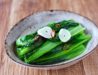 フライパンでたった3分! 「小松菜のオイル蒸し」 #今日の作り置き