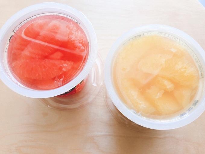 vita+「レッドグレープフルーツ」と「バレンシアオレンジ」中身