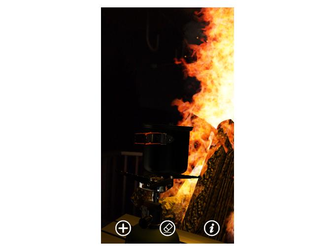 キャンプ道具を加えた時の画像