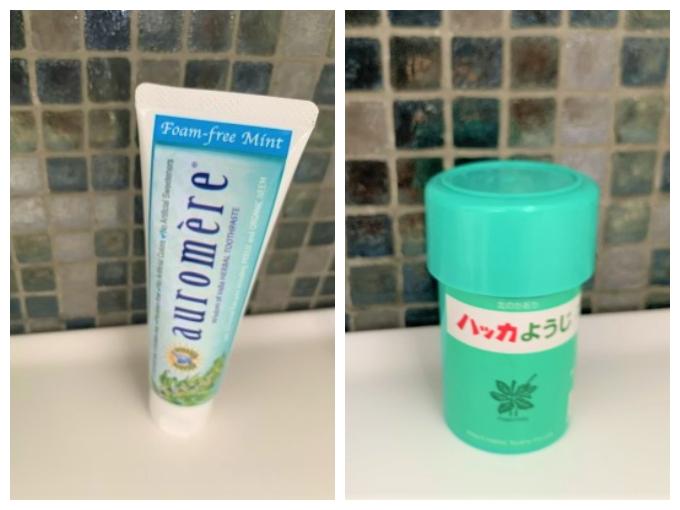 歯磨き粉とはっかようじ画像