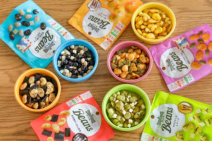 Nihonbashi Bar Beansの5種のパッケージと中身