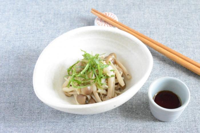 さっぱりヘルシーなヘビロテ副菜「きのこと大葉のポン酢和え」#節約ダイエットレシピ