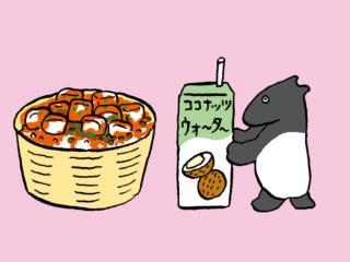 「麻婆豆腐丼+ココナッツウォーター」でエイジングケア #コンビニちょい足し薬膳